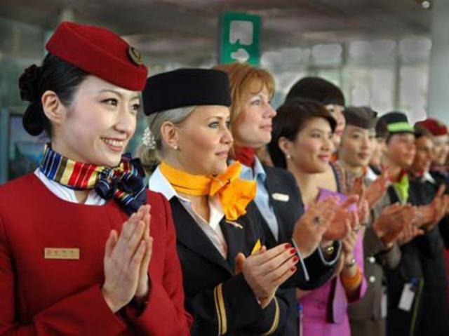 Поздравление бортпроводниц
