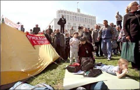 В митинги обманутых дольщиков Социальная инициатива было вовлечено несколько политиков
