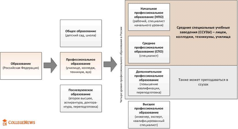 Структура и система образования в России