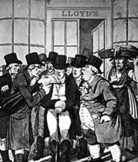 Первое известное объединение андеррайтеров произошло в синдикате Ллойдс между купцами