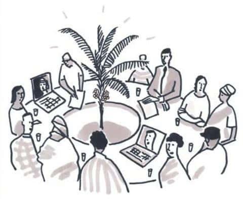 У эмиссионного синдиката есть организационная структура из нескольких уровней