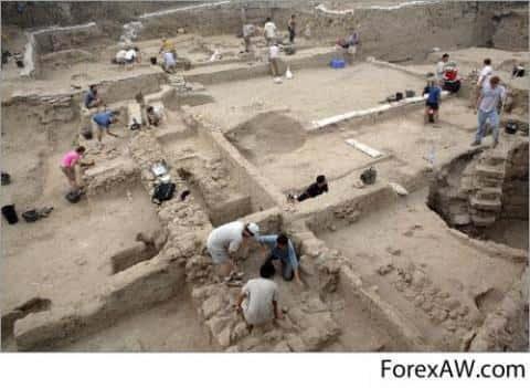 Археологические раскопки в Греции