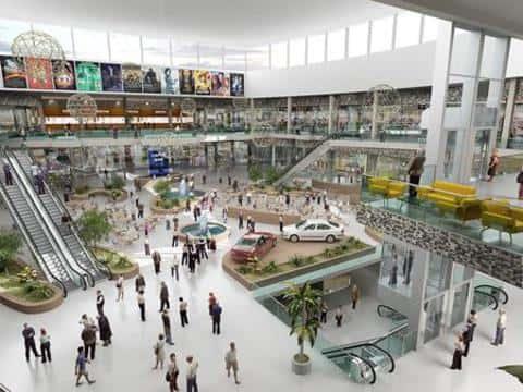 Площадь торгово-развлекательных комплексов обычно составляет несколько десятков тысяч кв.метров