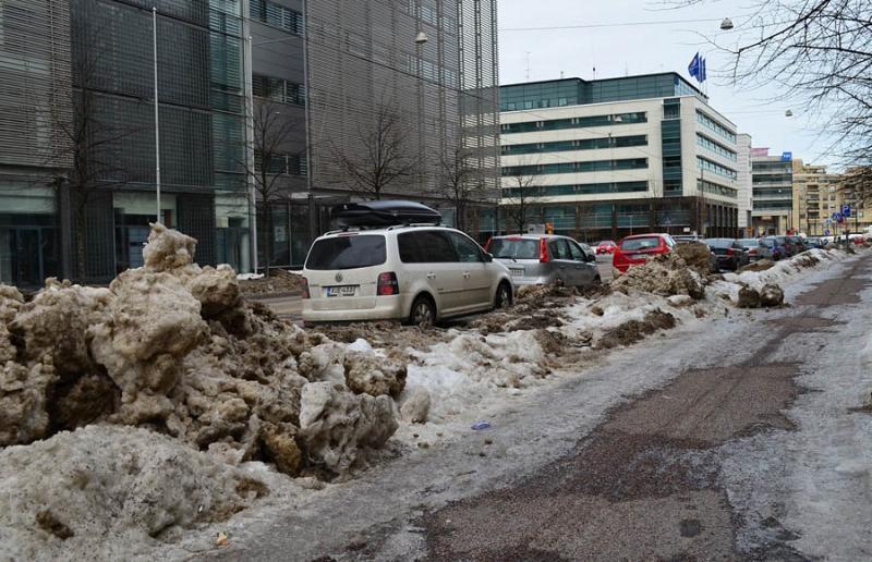 улицы с подогревом в Финляндии