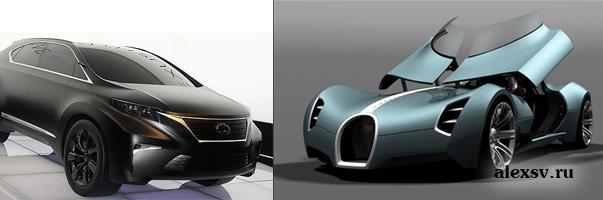 Примеры транспортного дизайна
