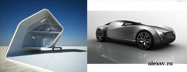 Примеры футуристического дизайна