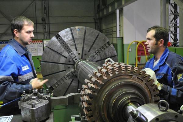 Идет восстановление рабочих поверхностей роторов турбин