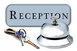 звонок и ключи на рецепции в отеле