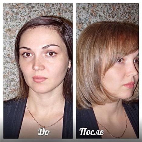 Парикмахер стилист спб до и после
