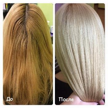 Окрашивание в пепельный блонд