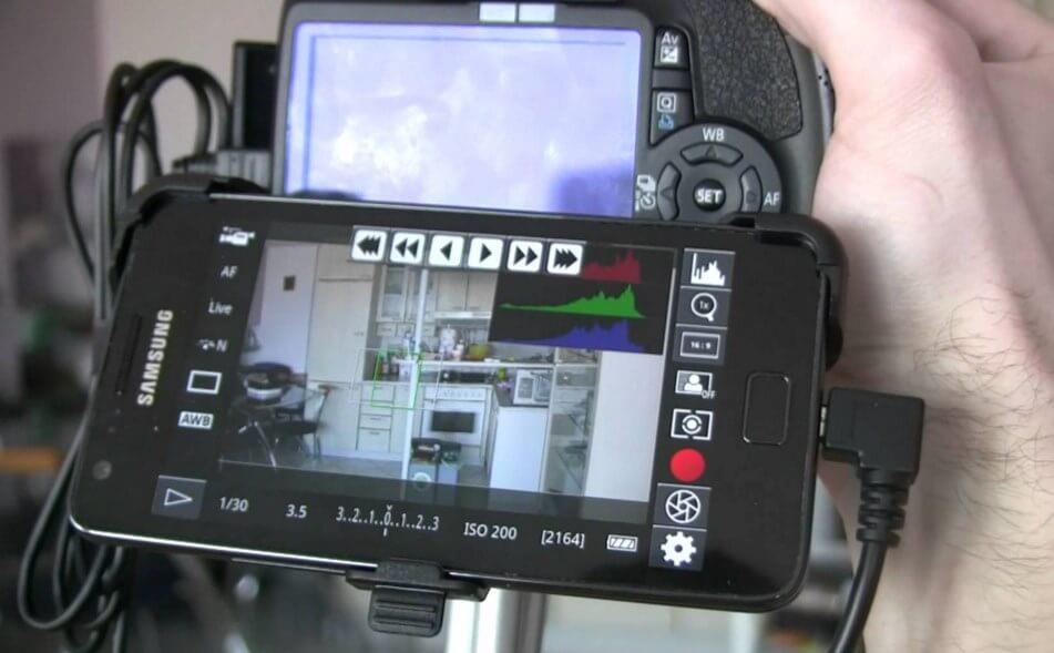 Настройка фотоаппарата через мобильный телефон