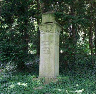 Могила Макса Вебера в Гейдельберге, Германия