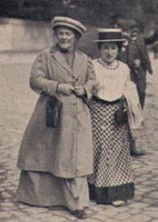 Клара Цеткин и Роза Люксембург. 1910 г.